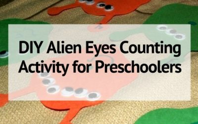DIY Alien Eyes Counting Activity for Preschoolers
