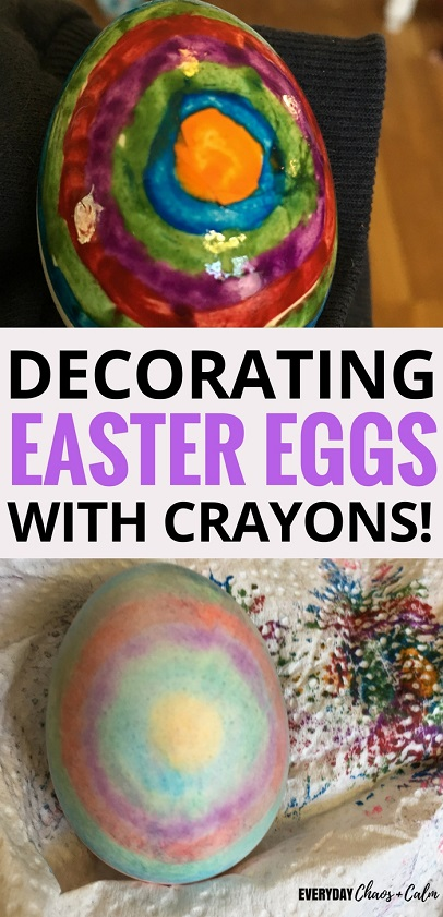 Easter Crafts: Decorate Easter Eggs using crayons for a fun new look!
