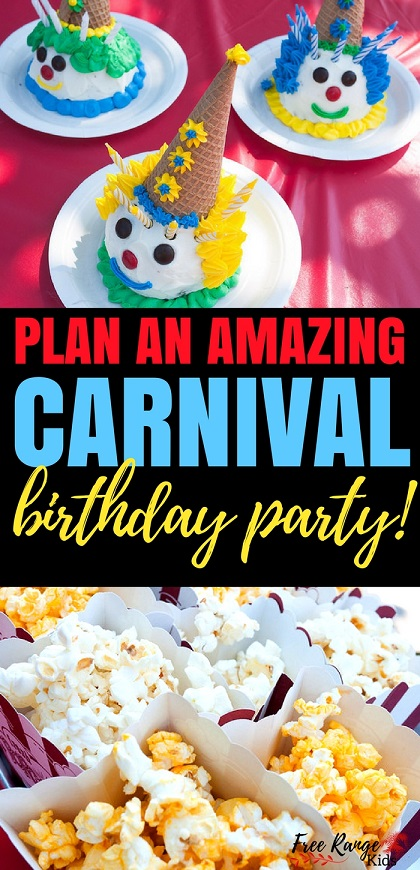 Birthday Party Ideas: Give you kids an memorable birthday experience by planning an amazing DIY carnival birthday party complete with carnival games, activities and food!