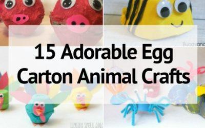 15 Adorable Animal Egg Carton Crafts for a Zoo of Fun!