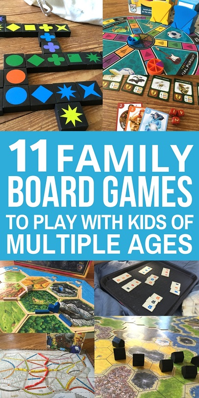 Family Night: Board games are a great way to reconnect as a family. Here are 11 of the best family board games that work for families with kids of multiple ages. Choose one for your next family game night!