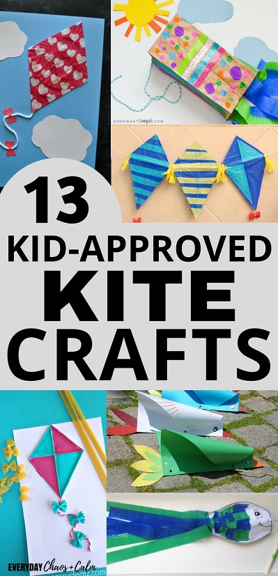 Kite Crafts for Kids: Have fun exploring wind and kites by making your own kites. Try out some of these 13 kite crafts for preschoolers (or kids of any age)- lots of them can really fly!