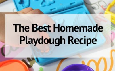 The Best Homemade Playdough Recipe- with Sensory Variations