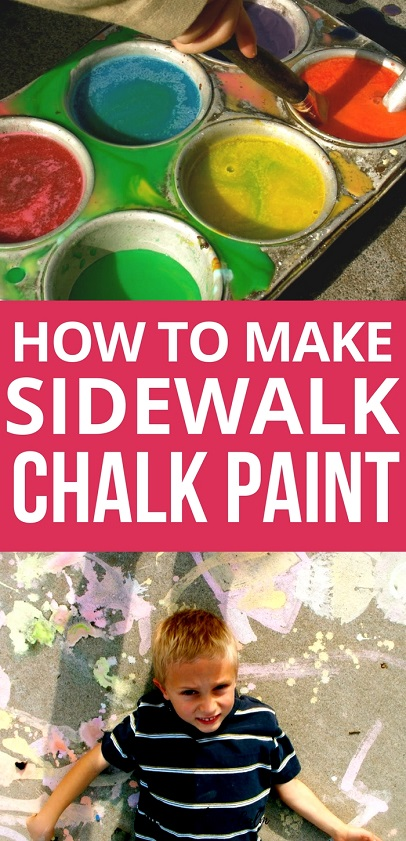 Activities for Kids: Do you need a fun and engaging outdoor activity for your kids? Try making your own sidewalk chalk paint for hours of artistic fun outside!