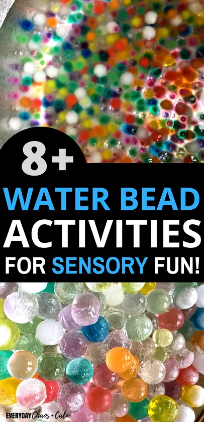 Sensory Activities: Give your child the ultimate sensory experience with water beads! Try out more than 8 water bead activities to keep your preschooler or toddler busy for hours!