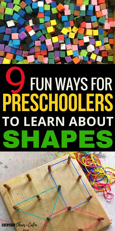 Shape Activities: The best way to learn about shapes is through play. Here are 9 simple and engaging shape activities for preschoolers to help them learn all their shapes!