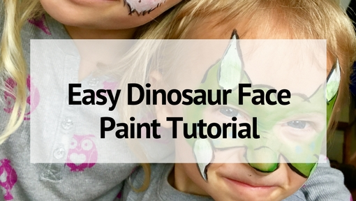 Quick and Easy Dinosaur Face Paint for Kids