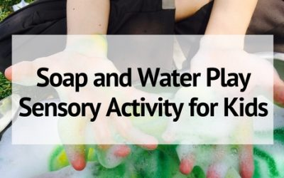 Soap and Water Play Sensory Activity for Kids