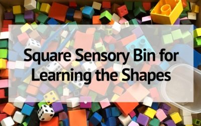 Square Sensory Bin for Learning the Shapes