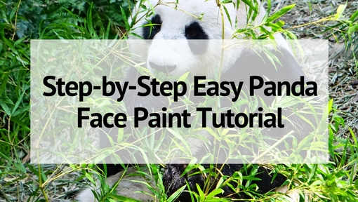 Step By Easy Panda Face Paint Tutorial