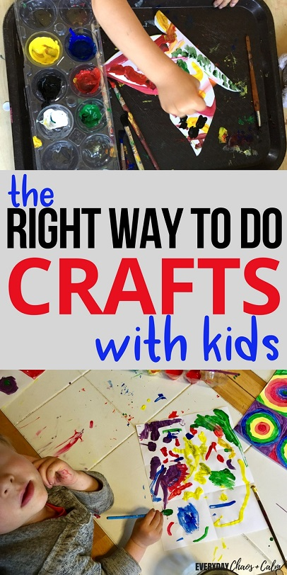 Crafts for Kids: It's fun to create with your child but don't forget there's a right and wrong way to do crafts with your kids!