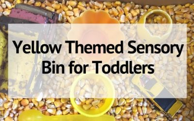 Yellow Sensory Bin for Toddlers to Help Learn the Color Yellow