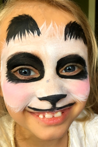 Step-by-Step Easy Panda Face Paint Tutorial