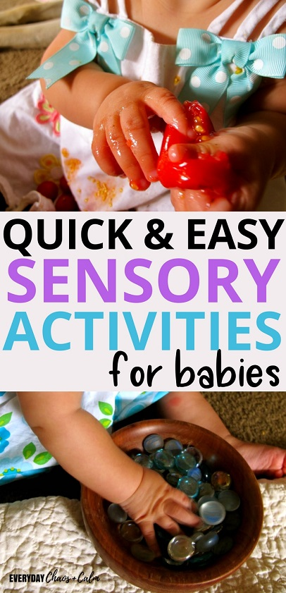 Sensory Activities: Sensory play is an important part of child development. Learn about some very simple and easy sensory activities for babies that will stimulate your baby and help her learn about the world around her.