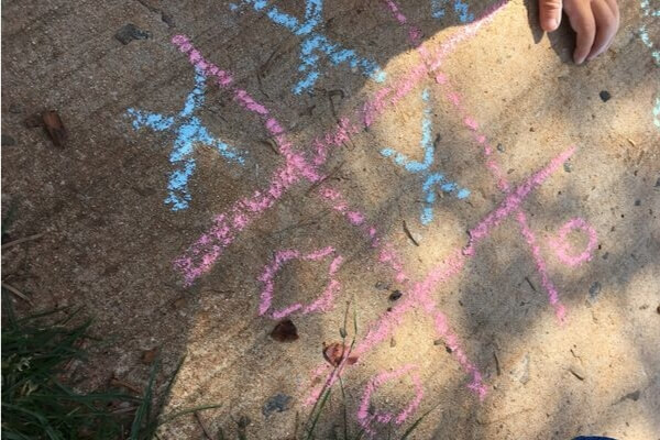 chalk tic tac toe