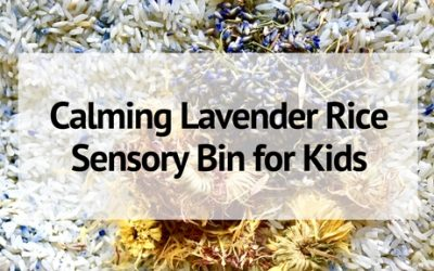 Calming Lavender Rice Sensory Bin for Kids
