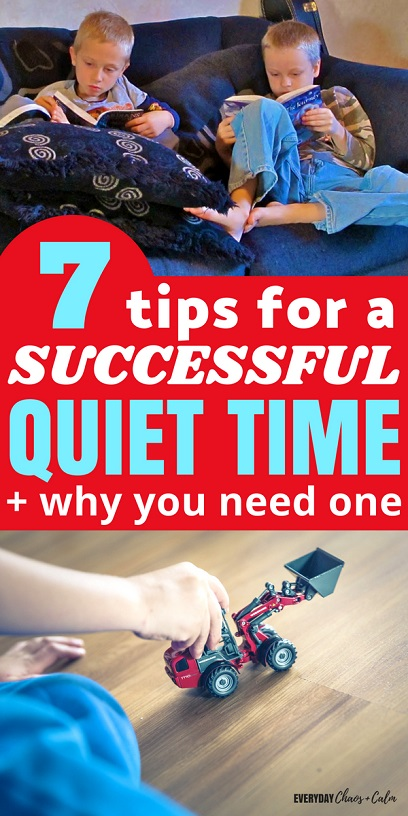 Parenting Tips: Help your day run smoother by instating a daily quiet time. Learn why you need a quiet time and tips on how to make it go smoothly