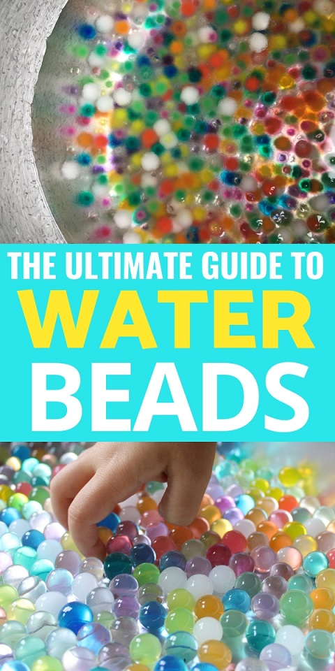 Sensory Play: Learn all about what water beads are and how to use them with your kids for sensory activities and educational activities