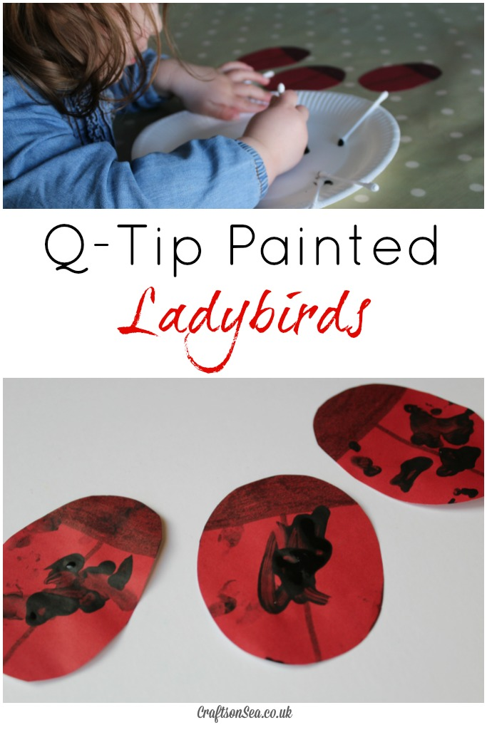 Q-Tip Ladybug Craft for Toddlers