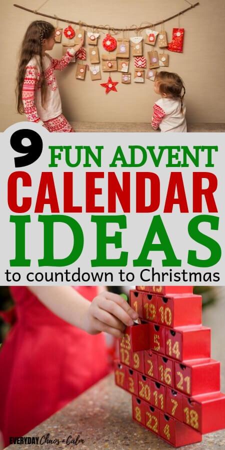 9 advent calendar ideas