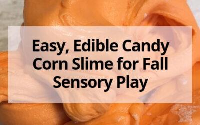 Easy, Edible Candy Corn Slime for Fall Sensory Play