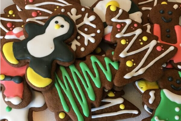 decorated swedish spice cookies