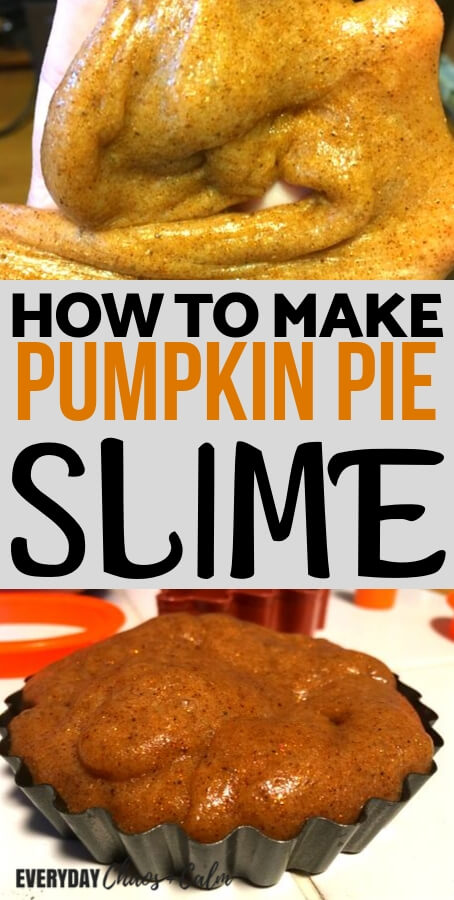 how to make pumpkin pie slime