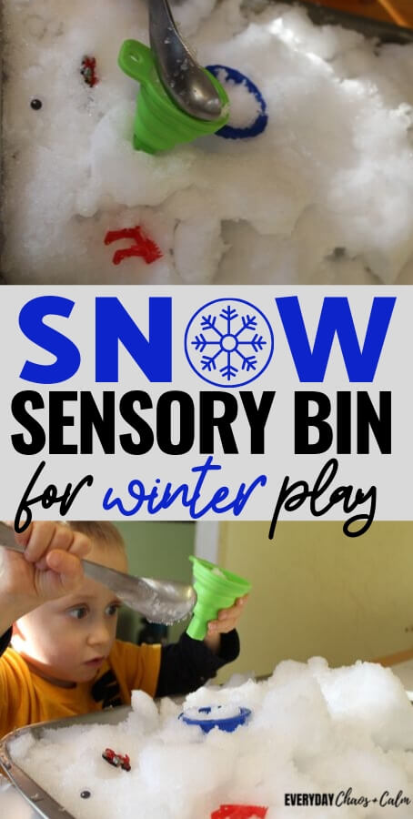 Snowy Sensory Bin for Winter Play