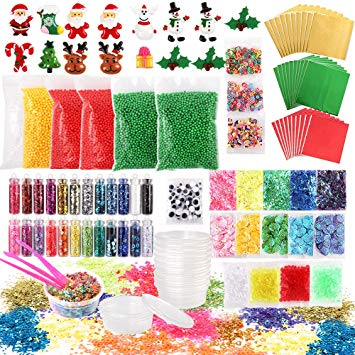 Christmas Slime Add Ins Kit (106 pieces)
