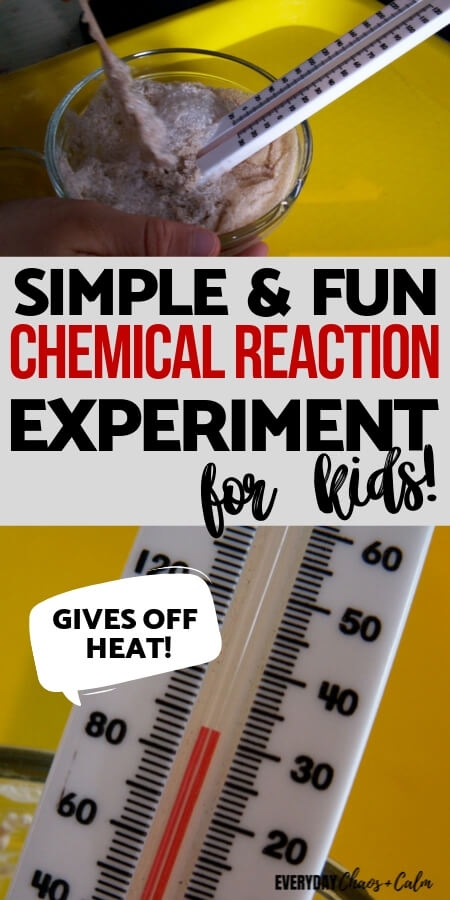 A Simple Chemical Reaction Experiment for Kids That Gives Off Heat!