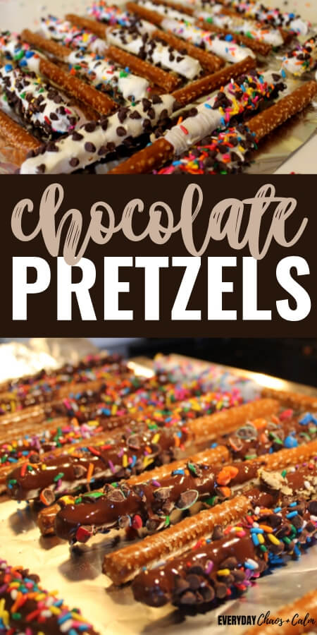 Chocolate Covered Pretzel Rods for a Homemade Edible Gift