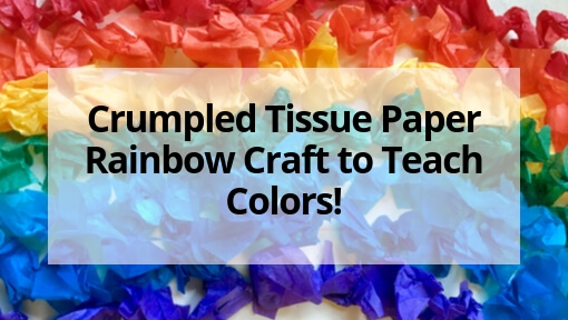 Crumpled Tissue Paper Rainbow Craft