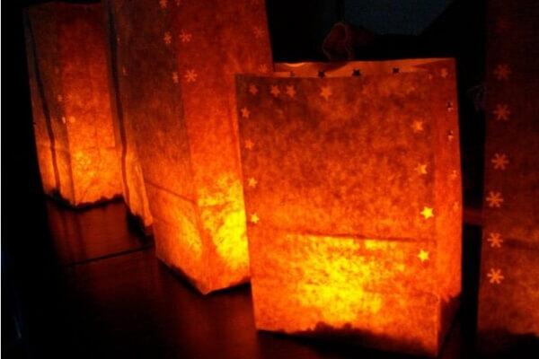 homemade luminaras for advent