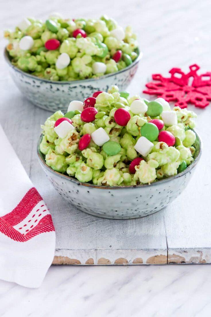 Grinch Popcorn {Gluten-Free}
