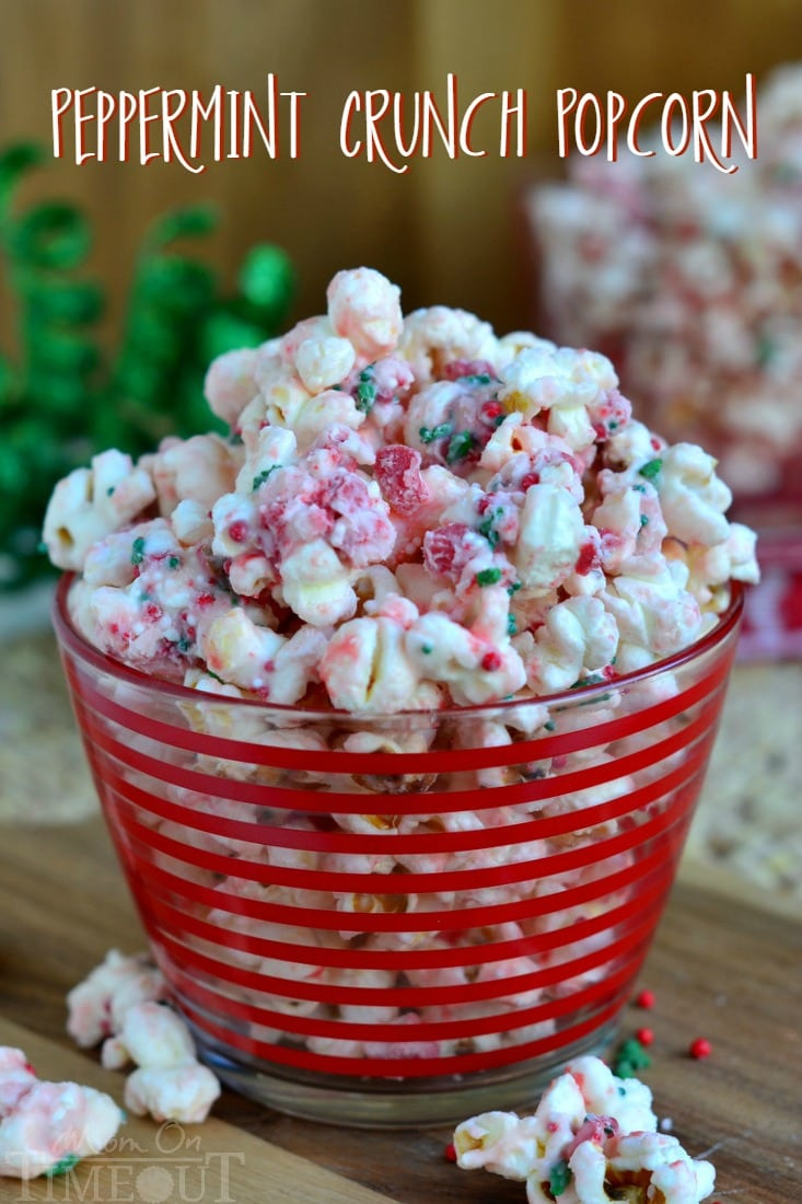Peppermint Crunch Holiday Popcorn