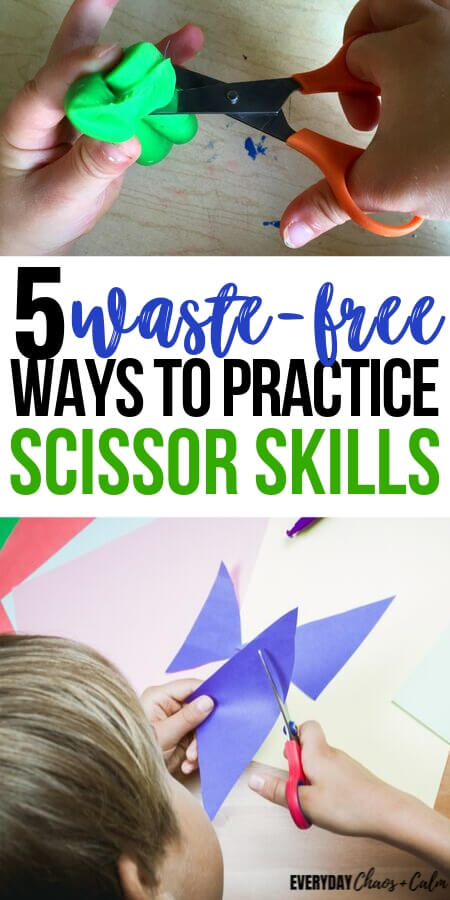 How to Give Your Child Scissor Cutting Practice– Without Wasting Paper