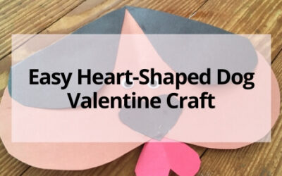 Easy Heart Shaped Dog Valentine Craft