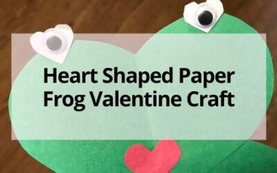 Heart-Shaped Frog Valentine's Craft for Kids