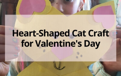 Heart Shaped Cat Valentine Craft