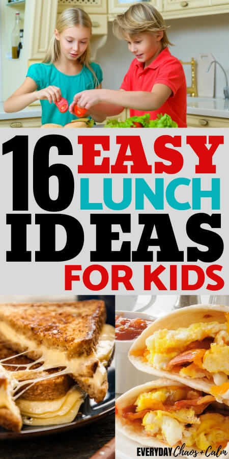 16 easy lunch ideas for kids