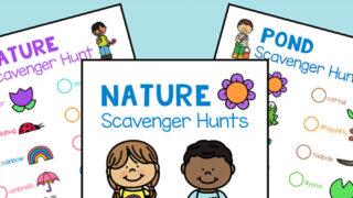 Free Nature Scavenger Hunt Printables Set for Kids