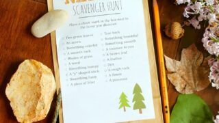 Nature Scavenger Hunt - Fun Game for Kids While Social Distancing!