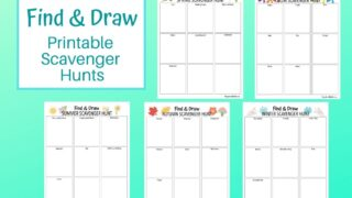 5 Find and Draw Printable Scavenger Hunts for Kids