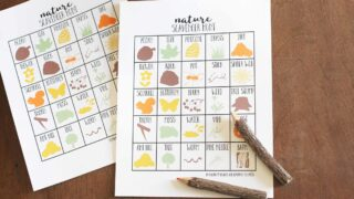 How to go on a Nature Scavenger Hunt with Kids (FREE Printable!)