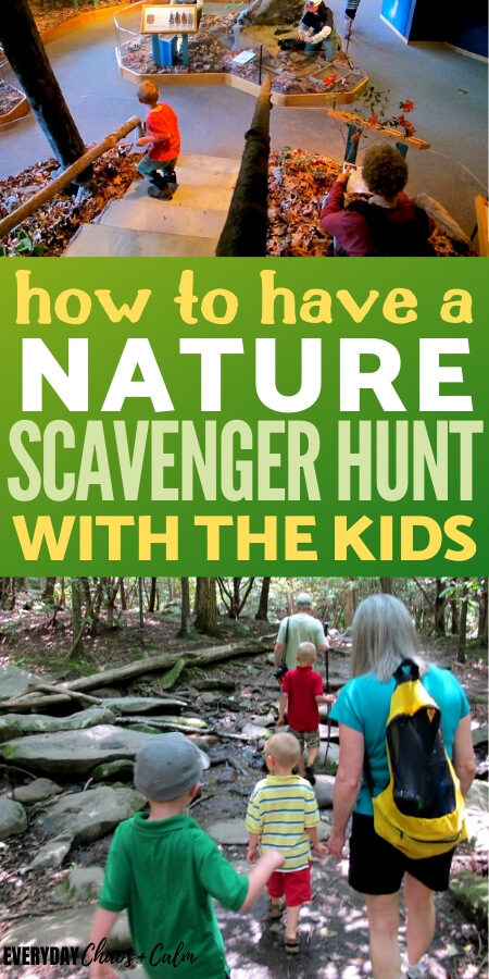 how to have a nature scavenger hunt with kids