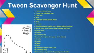 Get your Tween Outside: FREE Scavenger Hunt Ideas