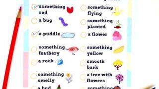 Printable Spring Scavenger Hunt for Kids