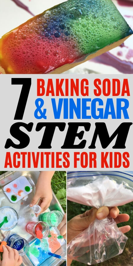 7 baking soda and vinegar stem activities for kids