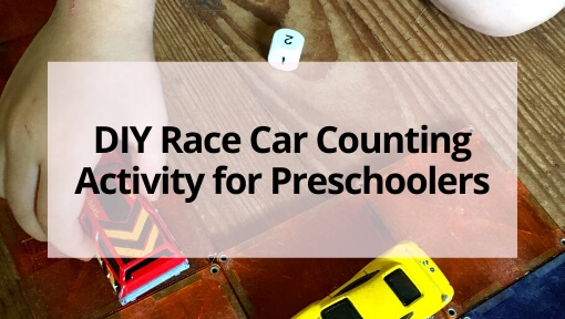 Easy DIY Race Car Counting Activity for Preschoolers