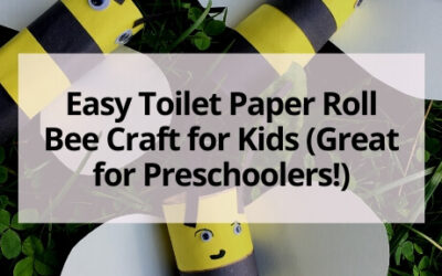 Easy Toilet Paper Roll Bee Craft for Kids (Great for Preschoolers!)